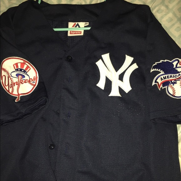 new concept 05058 5a46c Supreme x NY Yankees Jersey